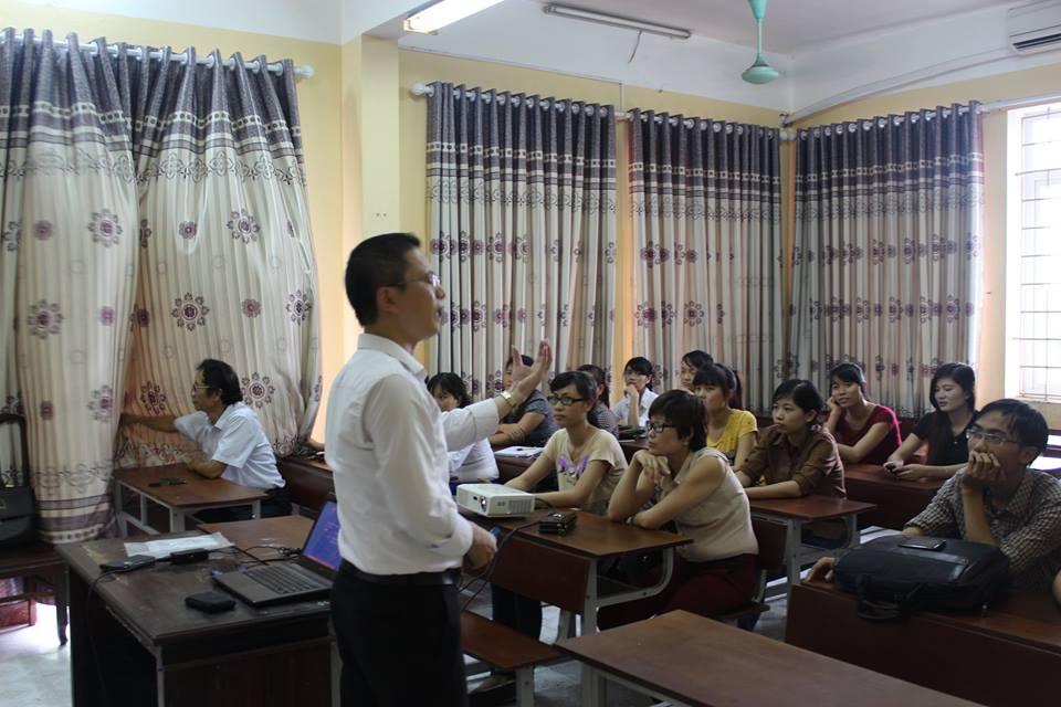 Lớp học kế toán tại tổng hợp Thái Bình